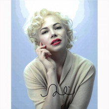 Autografo Michelle Williams - My Week with Marilyn Foto 20x25