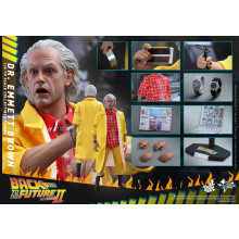 Hot Toys MMS380 Back To The Future Part 2 II Dr. Doc Emmett Brown *Sealed