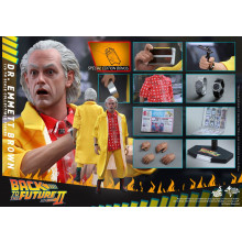 Hot Toys MMS380 Back To The Future Part 2 II Dr. Doc Emmett Brown *Special Edition