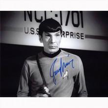 Autografo  Leonard Nimoy - Star Trek 8 Foto 20x25