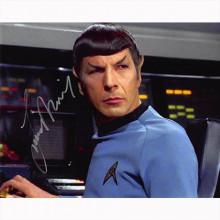 Autografo Leonard Nimoy - Star Trek Classica 6 Foto 20x25