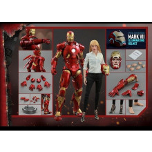Hot Toys 1/6 Iron Man 3 Mark IX (9) & Pepper Potts Special Edition MMS311