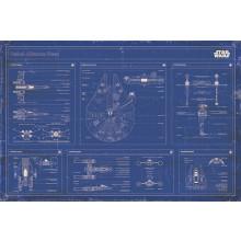 Poster Star Wars - Progetto di flotta dell'alleanza ribelle