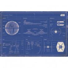 Poster Star Wars - Progetto della flotta imperiale