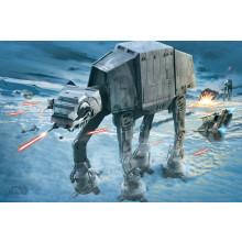 Poster Star Wars (attacco AT-AT)