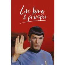 Poster Star Trek Spock (Live Long and Prosper)