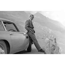 Poster James Bond (Connery e Aston Martin)