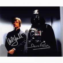 Autografo Mark Hamill & David Prowse - Star Wars Foto 20x25