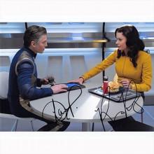 Autografo Anson Mount & Rebecca Romijn  Star Trek Strange New Worlds Foto 20x25: