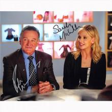 Autografo  - Robin Williams & Sarah Michelle Gellar Foto 20x25