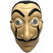 Maschera Carnevale, Halloween, Salvador Dalì in PVC Alta Qualità, La Casa di Carta