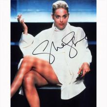 Autografo Sharon Stone - Basic Instinct Foto 20x25