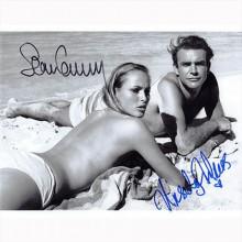 Autografo Sean Connery & Ursula Andress - James Bond bn Foto 20x25