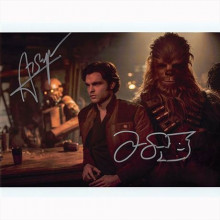Autografo Alden Ehrenreich & Joonas Suotamo - Star Wars Solo Foto 20x25