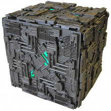 Star Trek Cubo Borg Gigante Illuminato