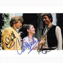 Autografo Star Wars Cast 3 Attori / Foto 20x25