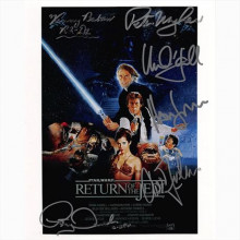 Autografo Star Wars Return of The Jedi Cast di 6  Foto 20x25