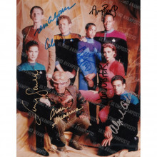 Autografo Cast Star Trek Deep Spce Nine Foto 20x25