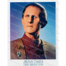 Autografo René Auberjonois 2 Star Trek DS9 Foto 20x25