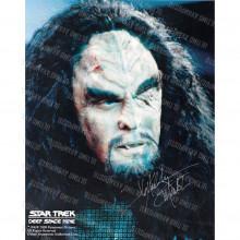 Autografo J.G. Hertzler Star Trek DS9 Foto 20x25