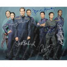 Autografo Cast Completo  Star Trek Enterprise 3 Foto 20x25