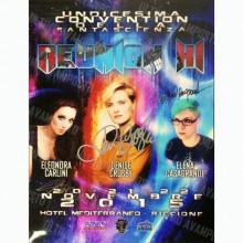 Locandina Reunion 2015 autografata da Denise Crosby, Elena Casagrande ed Eleonora Carlini