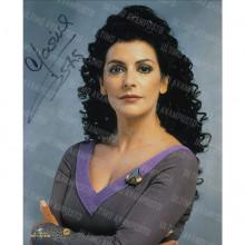 Autografo Marina Sirtis Star Trek TNG 2 Foto 20x25