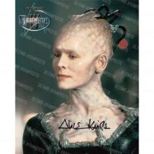 Autografo Alice Krige Star Trek Foto 20x25