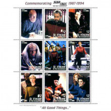 "Francobolli nCommemorating Star Trek The Next Generation 1987-1994 ""All Good Things…"