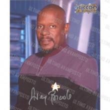 Autografo Avery Brooks Star Trek DS9 Foto 20x25