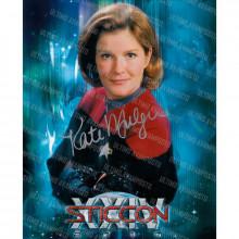 Autografo Kate Mulgrew  Star Trek Voyager 2 Foto 20x25