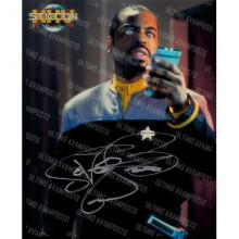 Autografo  LeVar Burton Star Trek Foto 20X25