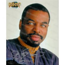 Autografo LeVar Burton Star Trek 2 Foto 20X25