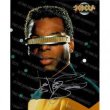 Autografo LeVar Burton Star Trek 3 Foto 20X25