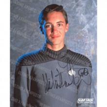 Autografo Will Wheaton Star Trek TNG Foto 20X25