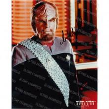 Autografo Michael Dorn Star Trek Foto 20x25