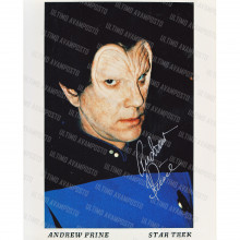 Autografo Andrew Prine Star Trek 2 Foto 20x25
