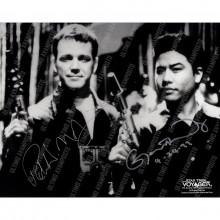 Autografo Robert Duncan McNeil e Garret Wong Star Trek Foto 20x25