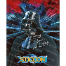 Autografo Dave Prowse Star Wars Foto 20x25