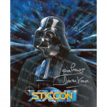 Autografo Dave Prowse Star Wars 2 Foto 20x25