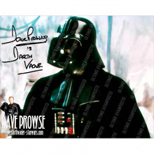Autografo Dave Prowse Star Wars 3 Foto 20x25