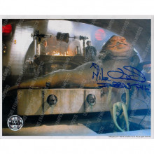 Autografo Mike Edmonds Star Wars Jabba Foto 20x25