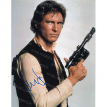 Autografo Star Wars Harrison Ford  2 Foto 20x25