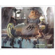 Autografo John Coppinger Star Wars Jabba 4 Foto 20x25