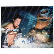Autografo Toby Philpott Star Wars Jabba 2 Foto 20x25