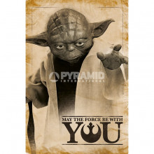 Poster Star Wars Yoda, May The Force Be With You