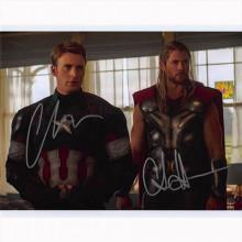 Autografo Chris Evans e Chris Hemsworth - Avengers Foto 20x25