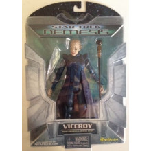 Star Trek Nemesis Viceroy Action Figure TNG - Diamond Select Art Asylum 2002 MOC