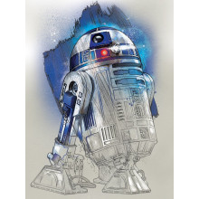 Quadro Star Wars The Last Jedi (R2-D2 Brushstroke)