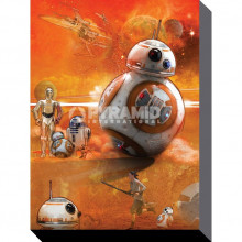 Stampa su tela Star Wars Episode VII (BB-8 Art)